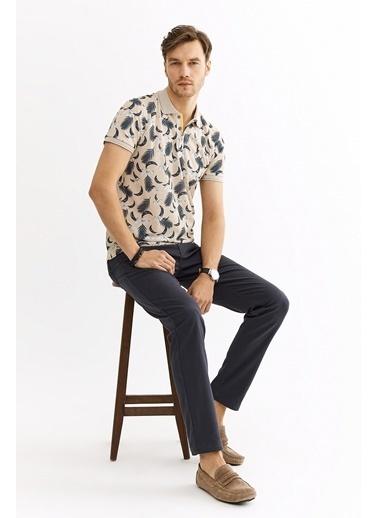 Avva Erkek  Polo Yakalı Baskılı Tişört A01Y1015 Bej